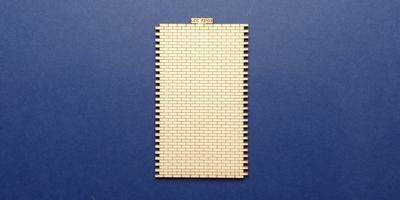 LCC 72-03 O gauge 10 brick wide station wall extension